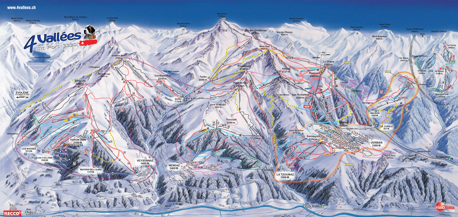 Verbier Piste Maps Performance Verbier
